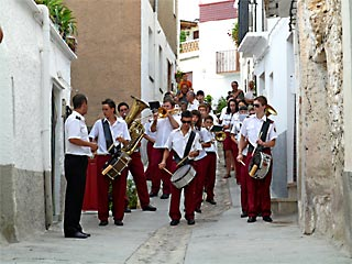 Canar Village fiesta band, Las Alpujarras, Spain