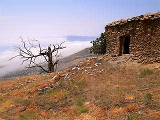 An old farm high in the Sierra Nevada Mountains in Spain